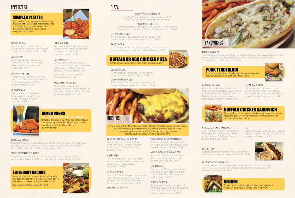 Inside of Menu